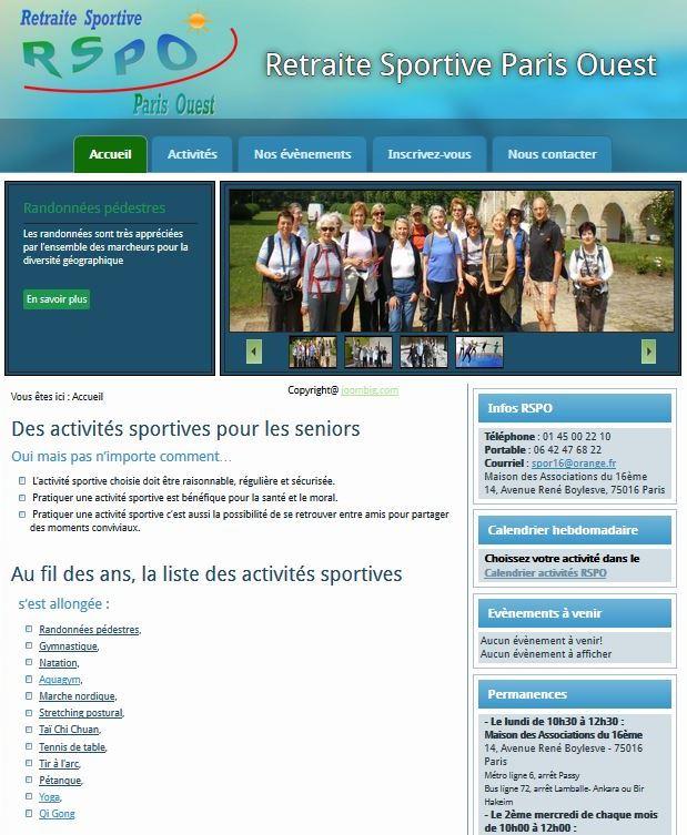 assocoWeb - Retraite Sportive de Paris Ouest